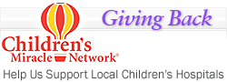 Giving back - Children's Miracle Network